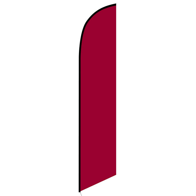 Solid Burgundy Feather Feather Flag Banner For Outdoors & Indoors CFF-5159BG- Advertising Banner Flag - Swooper Flag