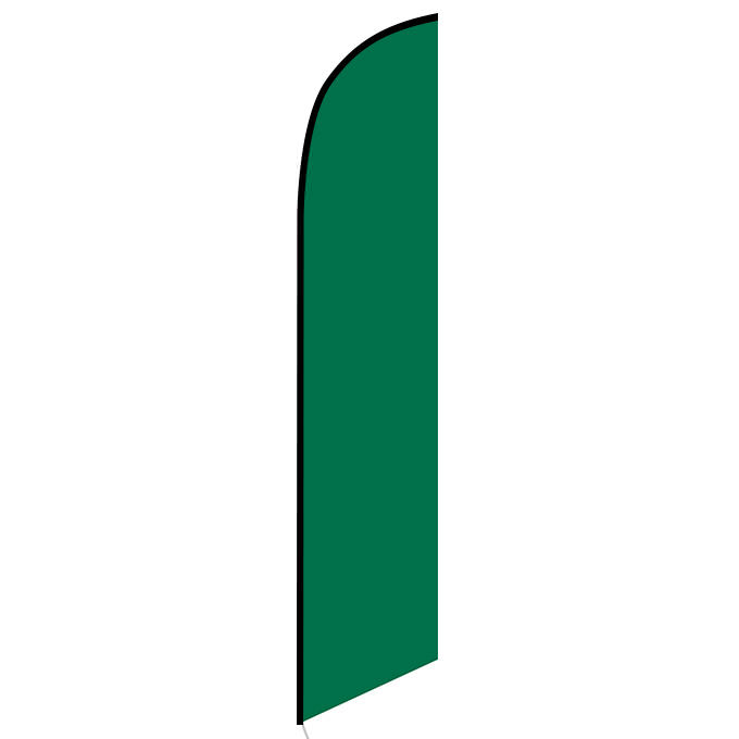 Solid Dark Green Color Feather Feather Flag Banner For Outdoors & Indoors CFF-5159DG- Advertising Banner Flag - Swooper Flag