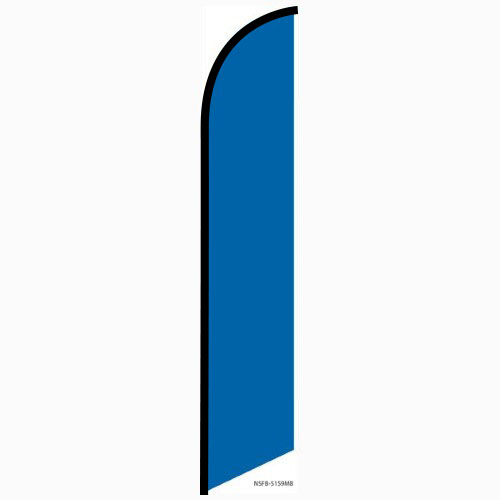 Solid Marina Blue Feather Feather Flag Banner For Outdoors & Indoors CFF-5159MB- Advertising Banner Flag - Swooper Flag